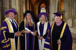 Famous faces receive honorary degrees from Winchester University